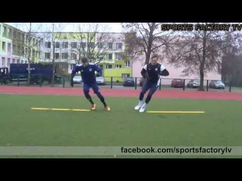 Sports Factory • Individual Football training • Quick feet, Passing, Agility (HD)