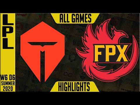 TES vs FPX Highlights ALL GAMES | LPL Summer 2020 W6D6 | TOP Esports vs FunPlus Phoenix